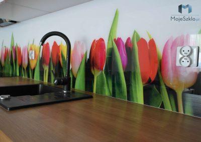 Panel Szklany Tulipany Do Kuchni