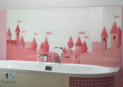 Panel Szklany Z Grafika Zamek