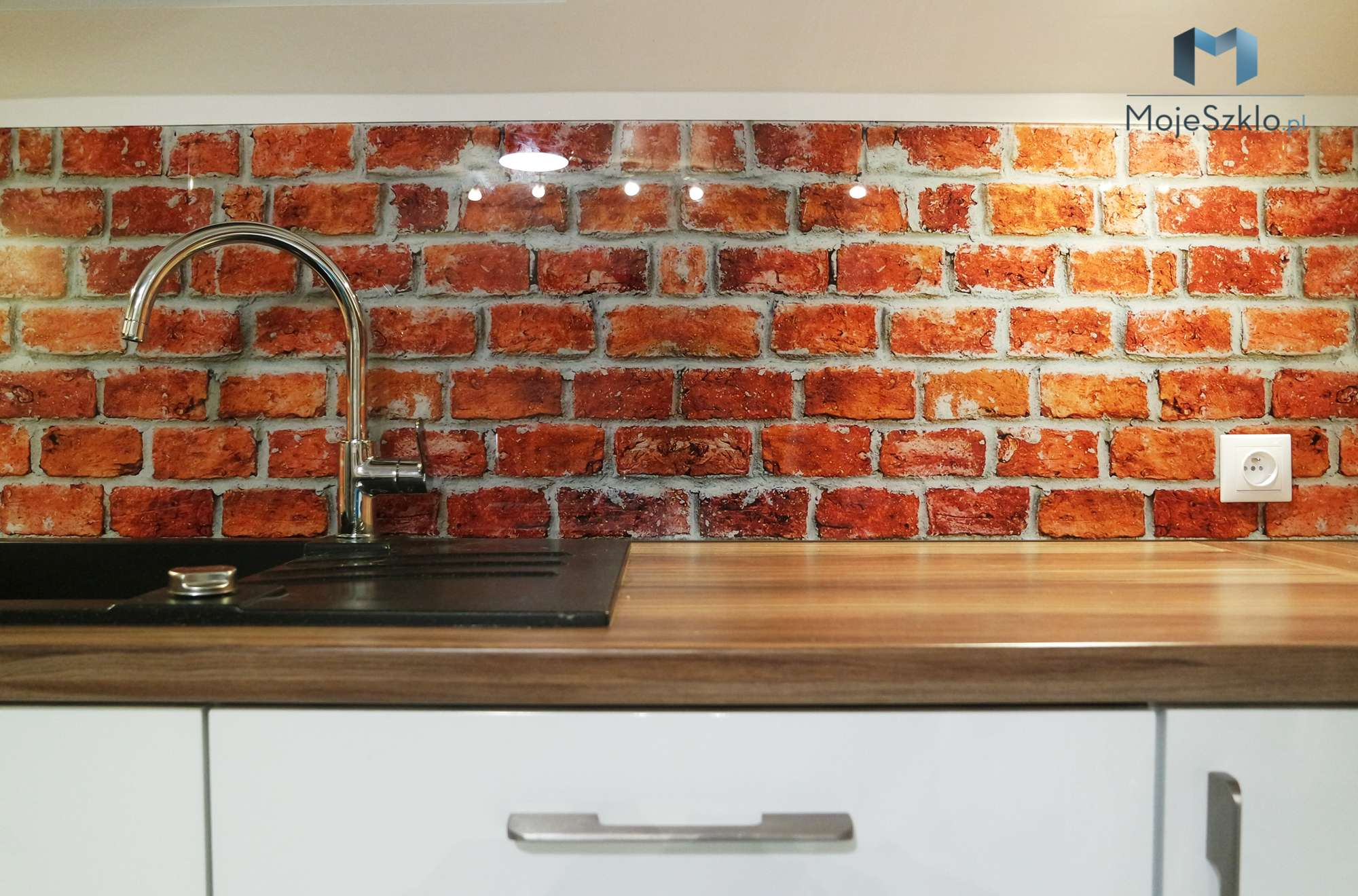 Panele Szklane Cegly Czerwone - Grafika na szkle Abstrakcje