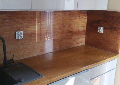 Panele Szklane Do Kuchni Drewno