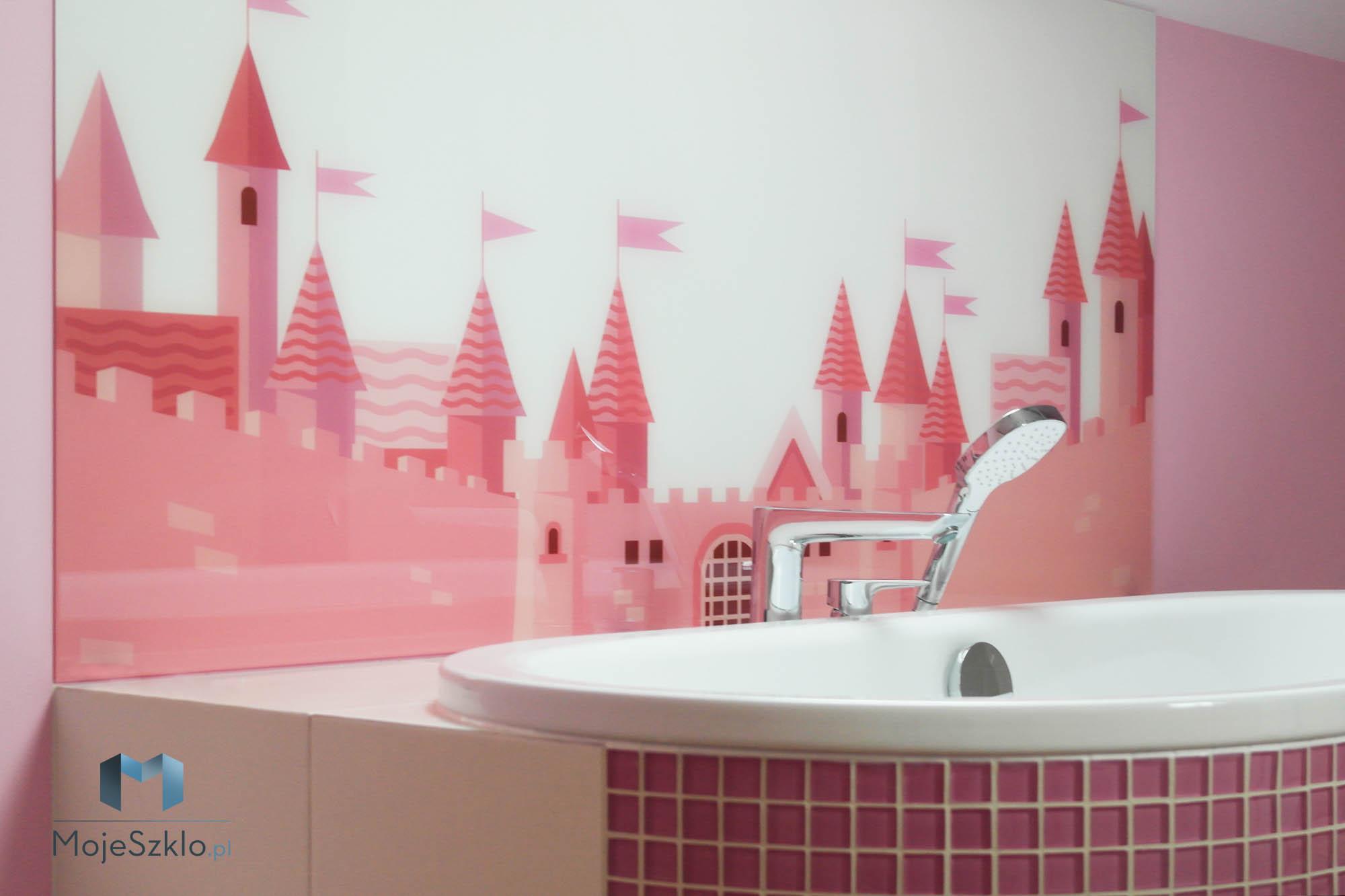 Panele Szklane Do Lazienki Rozowe - Kolorowe szkło (Lacobel) w łazience