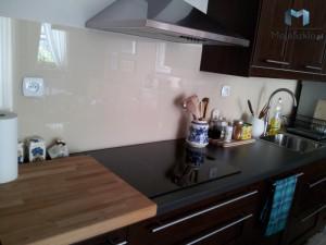 Panele Szklane Lacobel Lakobel Kuchnia Jasny Beż 1015