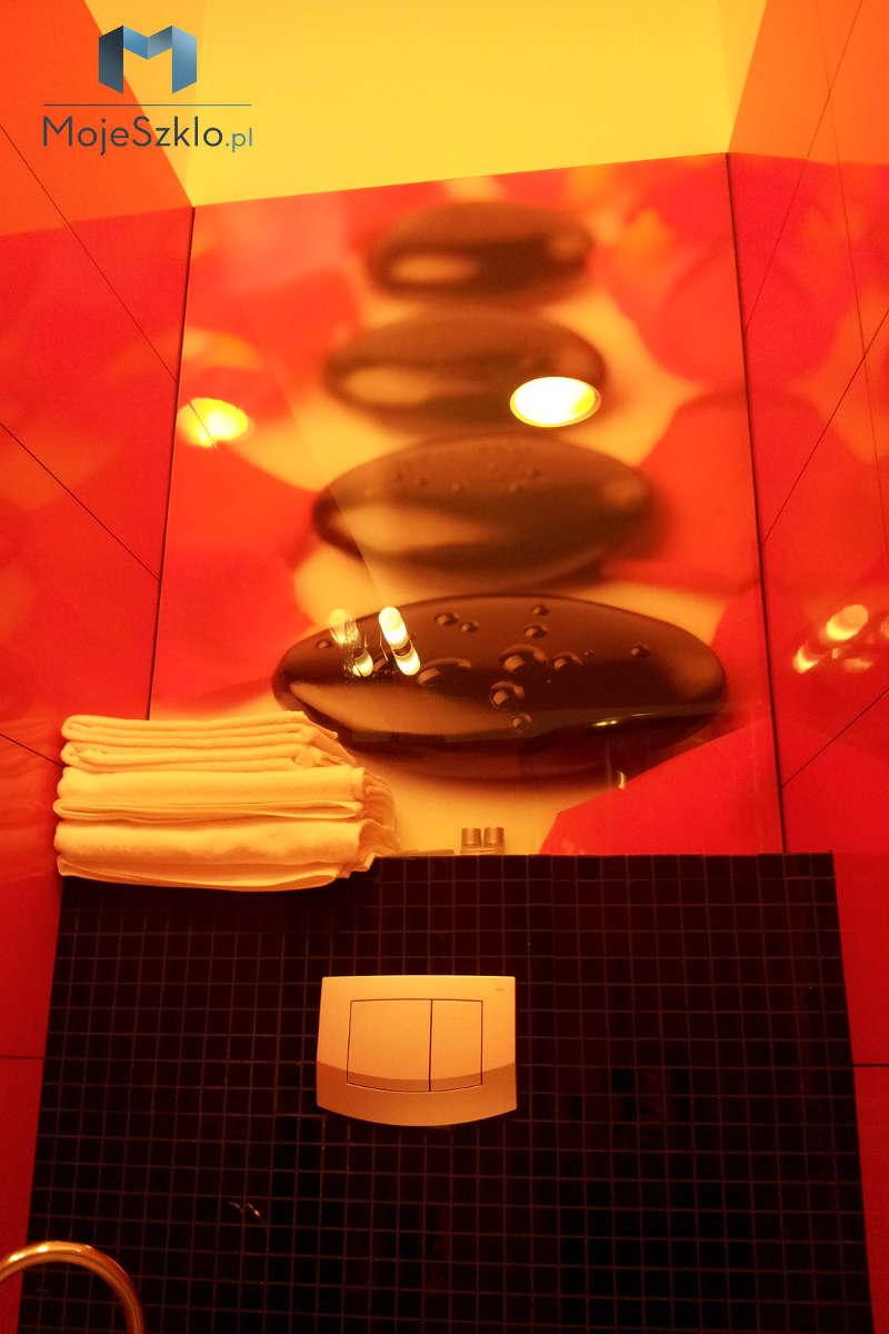 Panele Szklane Toaleta - Szklane panele z grafiką
