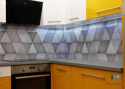 Panele Szklane Wzor Trojkaty Kuchnia
