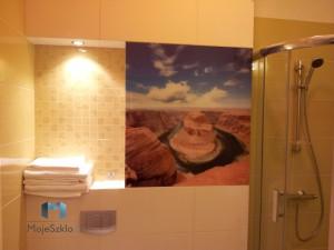 Panele Szklane z grafiką na ścianę w łazience