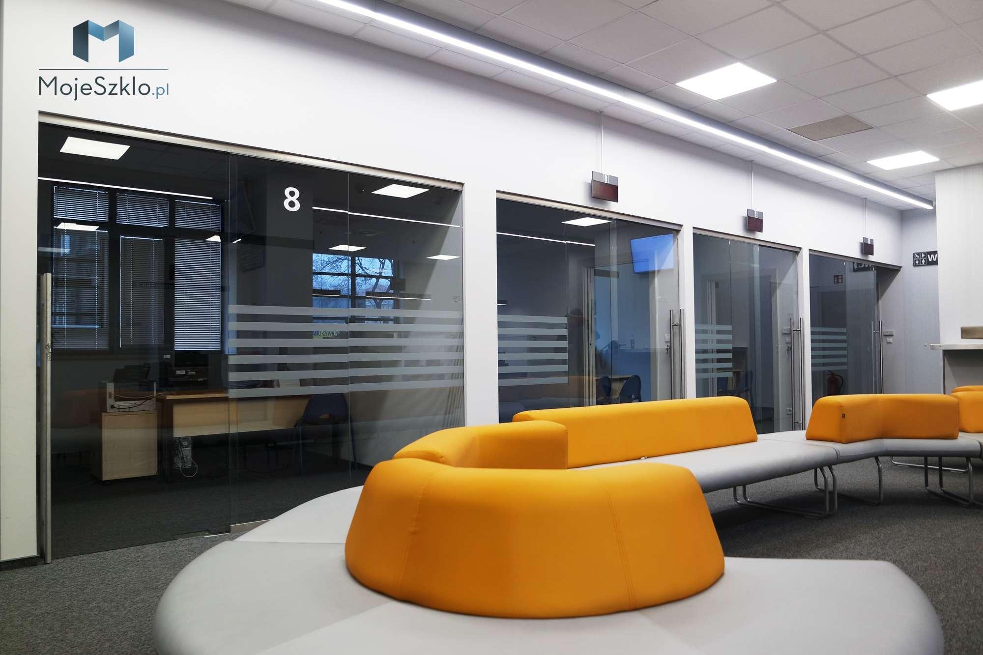 Scianki I Zabudowy Szklane Biurowe - Szklane drzwi z grafiką. Drzwi wewnętrzne na wymiar