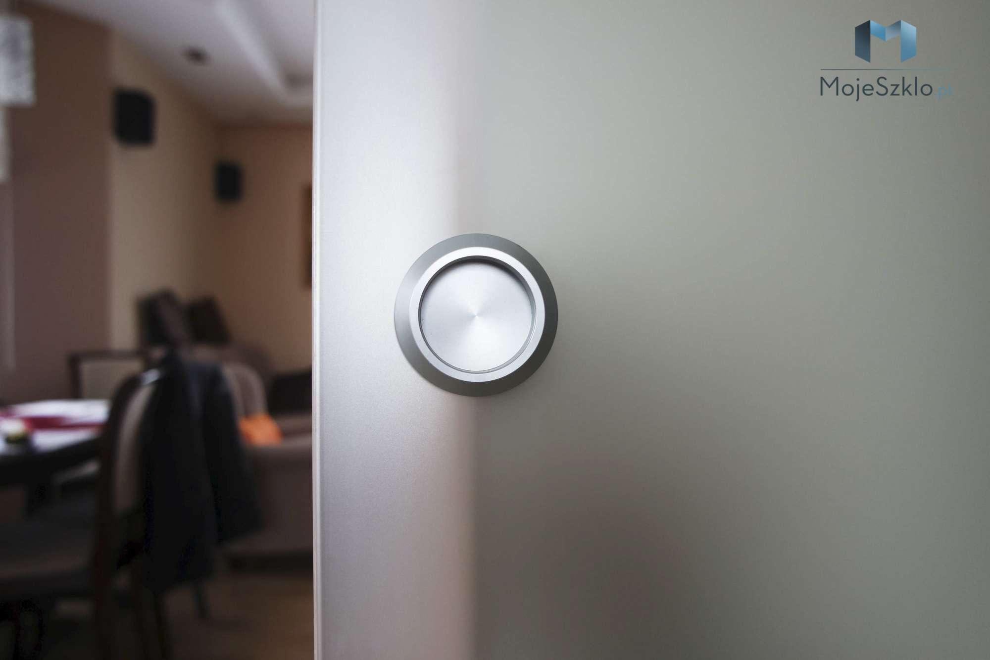 System Przesuwny Wpust - Szklane drzwi z grafiką. Drzwi wewnętrzne na wymiar
