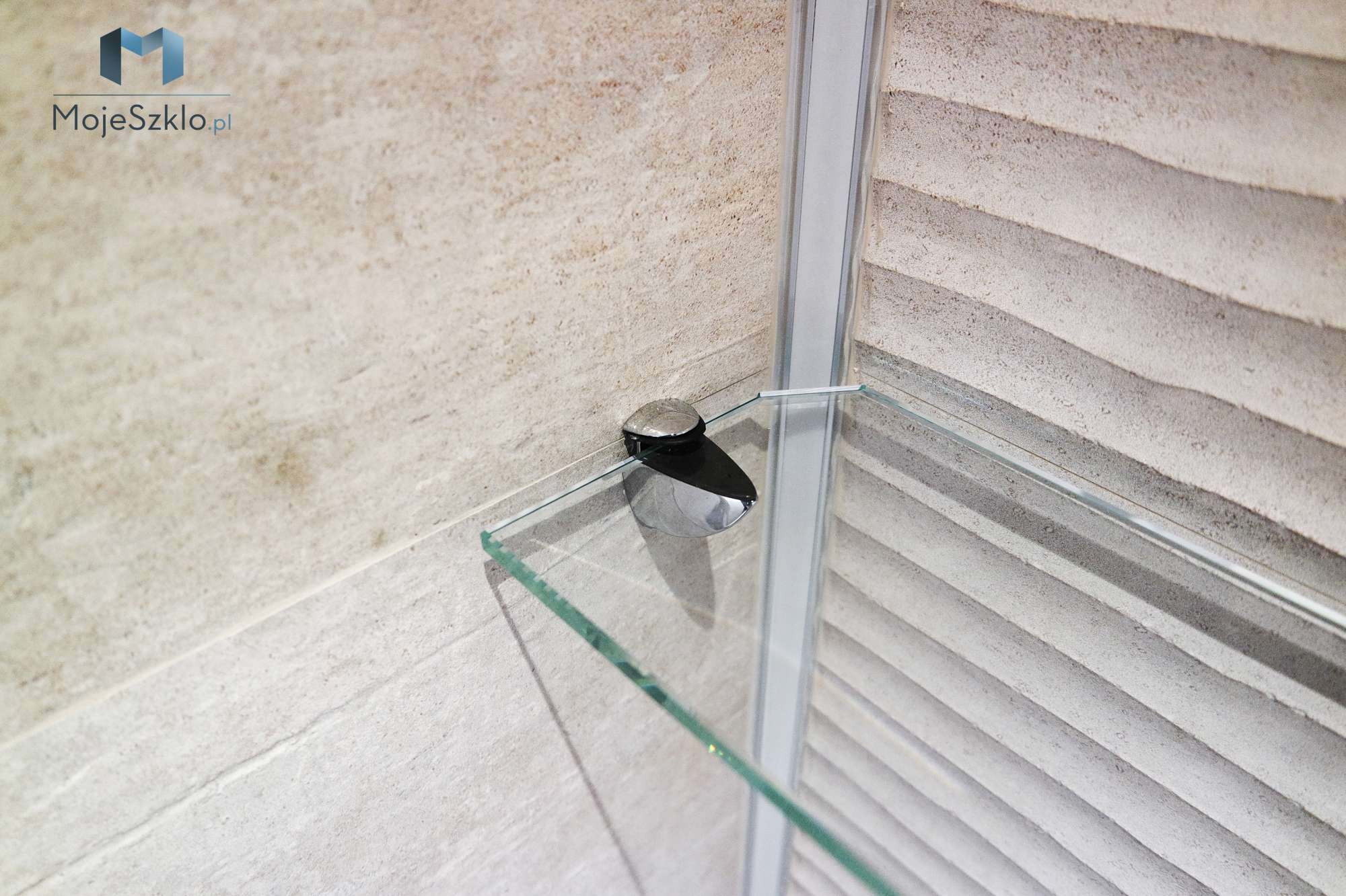 Szklana Polka Do Lazienki - Szklane półki do łazienki na wymiar