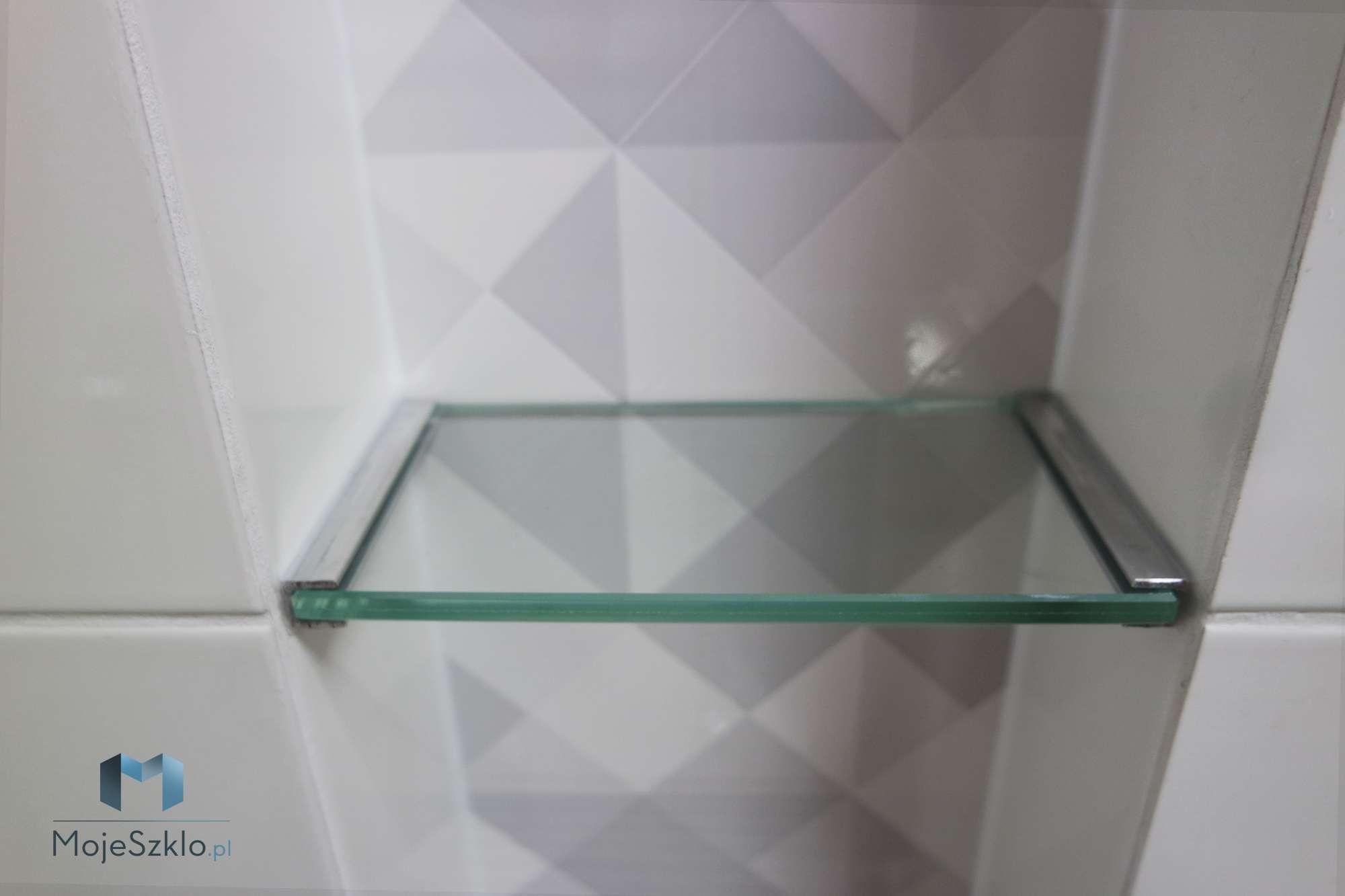 Szklana Polka Lazienkowa - Szklane półki do łazienki na wymiar