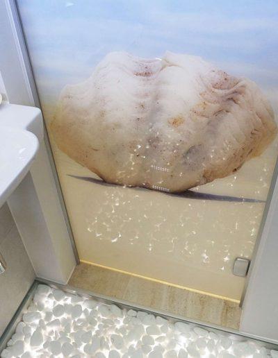 Szklane Drzwi Z Grafika Lazienkowe