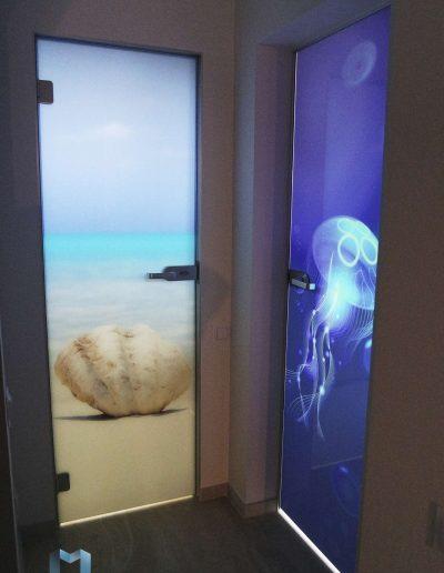Szklane Drzwi Z Grafika Wieliczka