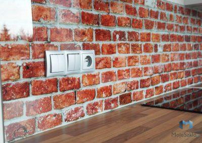 Szklane Panele Dekoracyjne Cegły