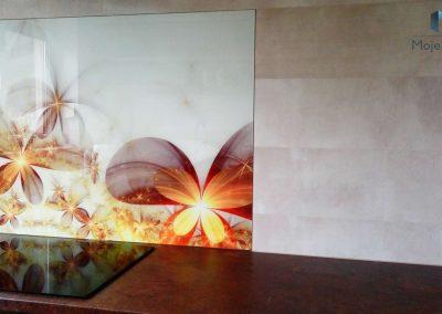 Szklane Panele Kuchenne Kwiaty