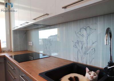 Szklany Panel Kuchenny Krokusy