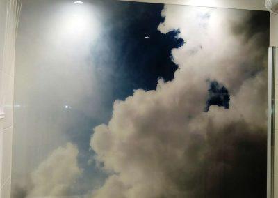 Szklany Panel Lazienka Niebo