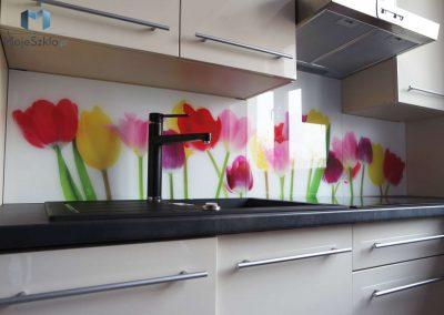 Szklo Dekoracyjne Do Kuchni Tulipany