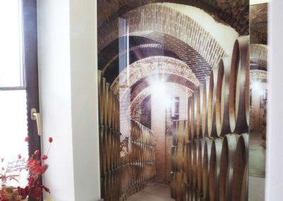 Szklo Dekoracyjne Winnica Scianka