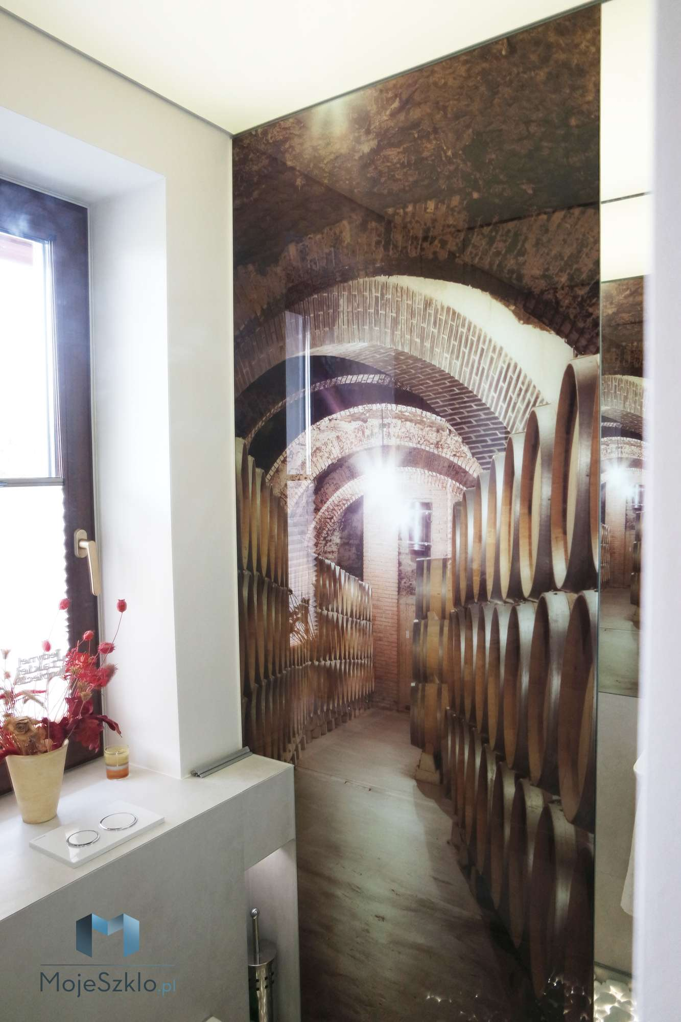 Szklo Dekoracyjne Winnica Scianka - Lacobel wzory. Różne motywy grafiki na szkle