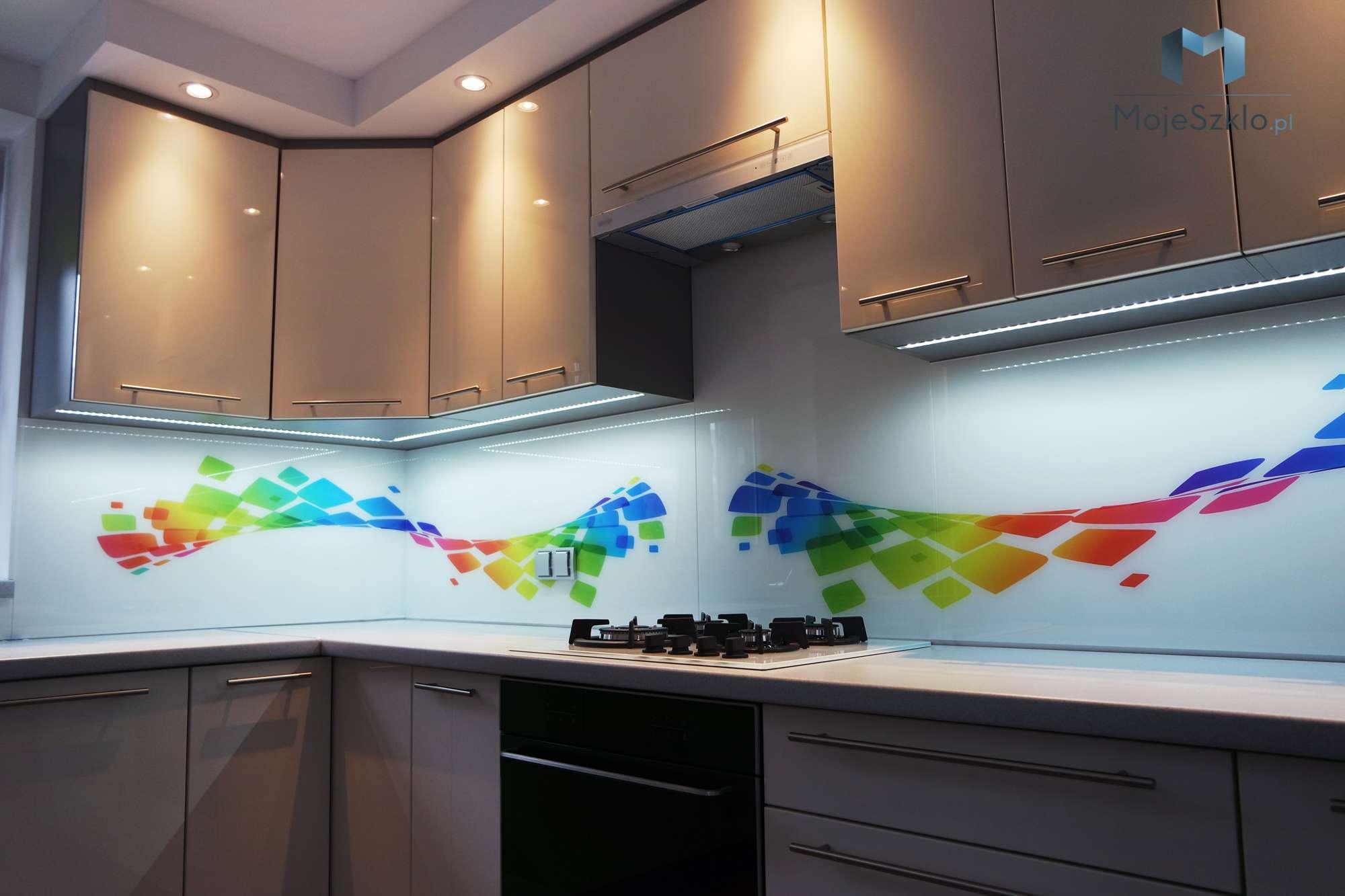 Grafika Na Szkle Do Kuchni Abstrakcje Mojeszklopl