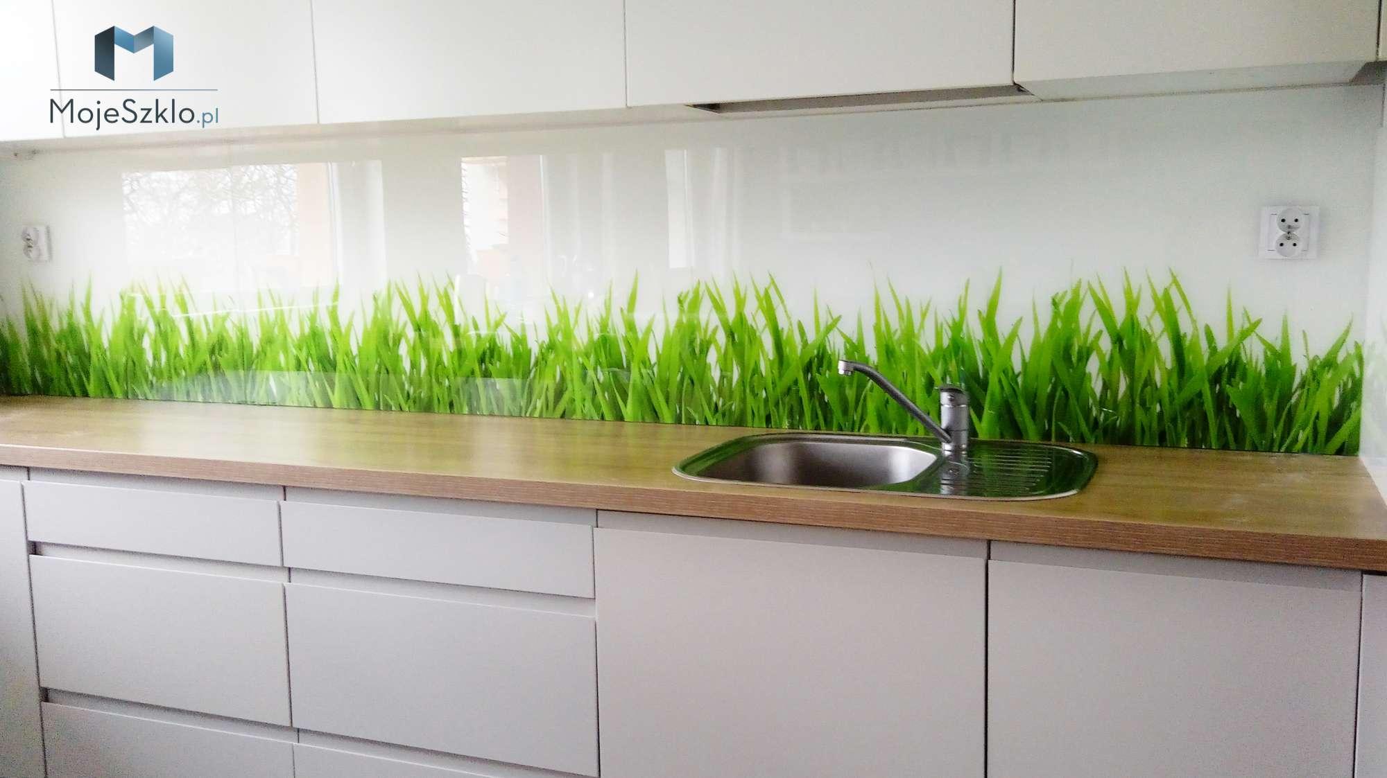 Szklo Do Kuchni Trawa - Szyba hartowana z nadrukiem trawy