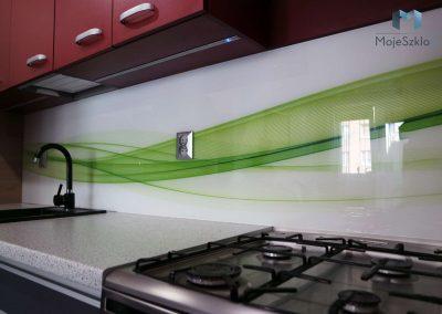 Szklo Do Kuchni Zielone Fale