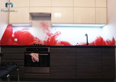 Szklo Grafika Czerwony Abstrakcja