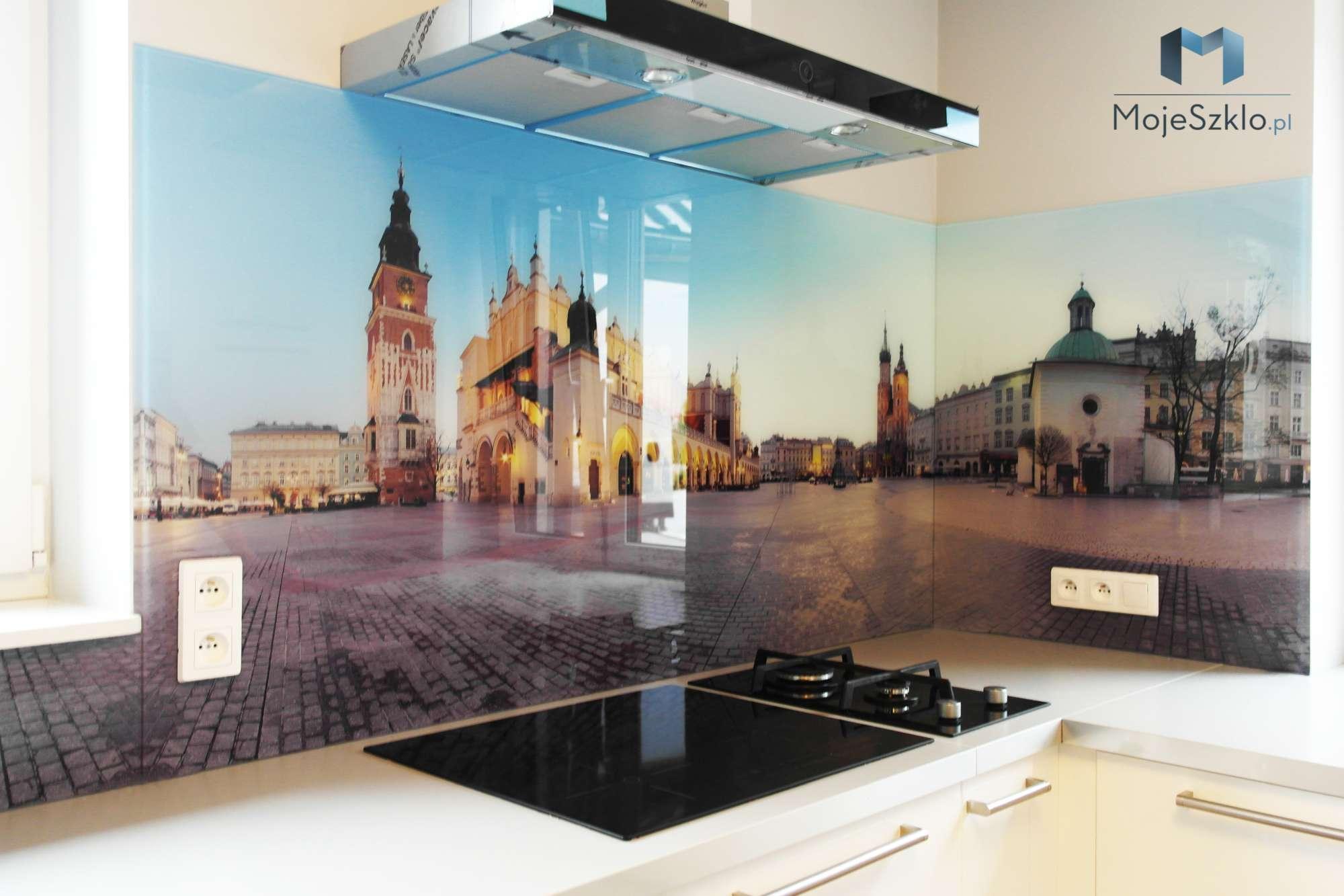 Szklo Hartowane Do Kuchni Krakow 1 - Szkło hartowane do kuchni z nadrukiem miasta