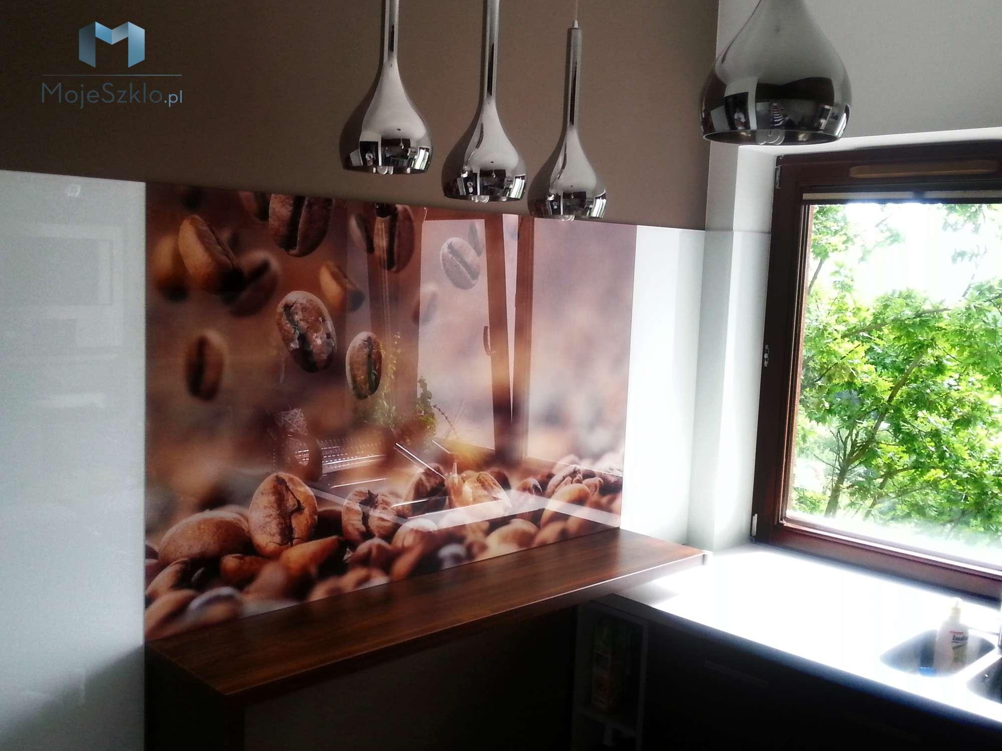 Szklo Ozdobne Kawa Kuchnia - Szkło na ścianę z nadrukiem napoje