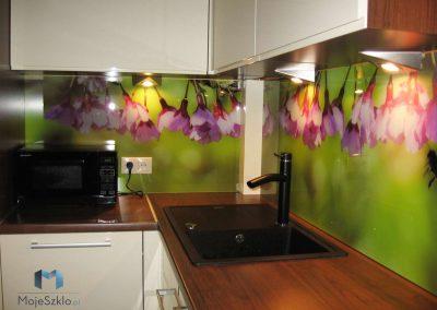 Szklo Ozdobne Kuchnia Kwiaty