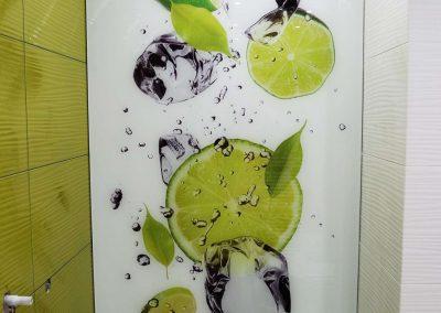 Szklo Ozdobne Kuchnia Limonki