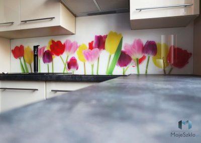 Szklo Ozdobne Kuchnia Tulipany 1