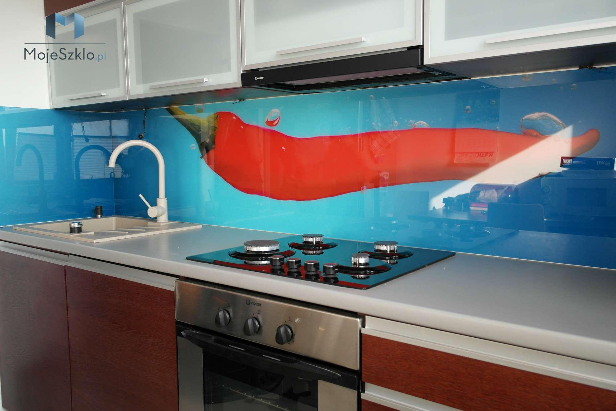 Szklo Ozdobne Papryczka Chili - Szkło na ścianę z nadrukiem napoje