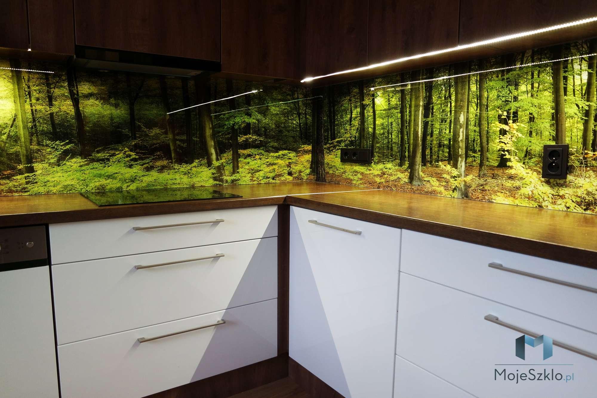 Szklo W Kuchni Las Krakow - Szkło w kuchni. Krajobrazy i lasy