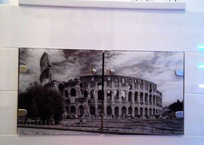 Szklo Z Grafika Koloseum