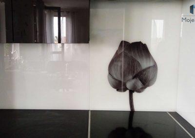 Szyba Do Kuchni Czarny Kwiat