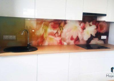 Szyba Do Kuchni Kwiaty Krakow