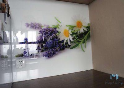 Szyba Do Kuchni Lawenda Kwiaty