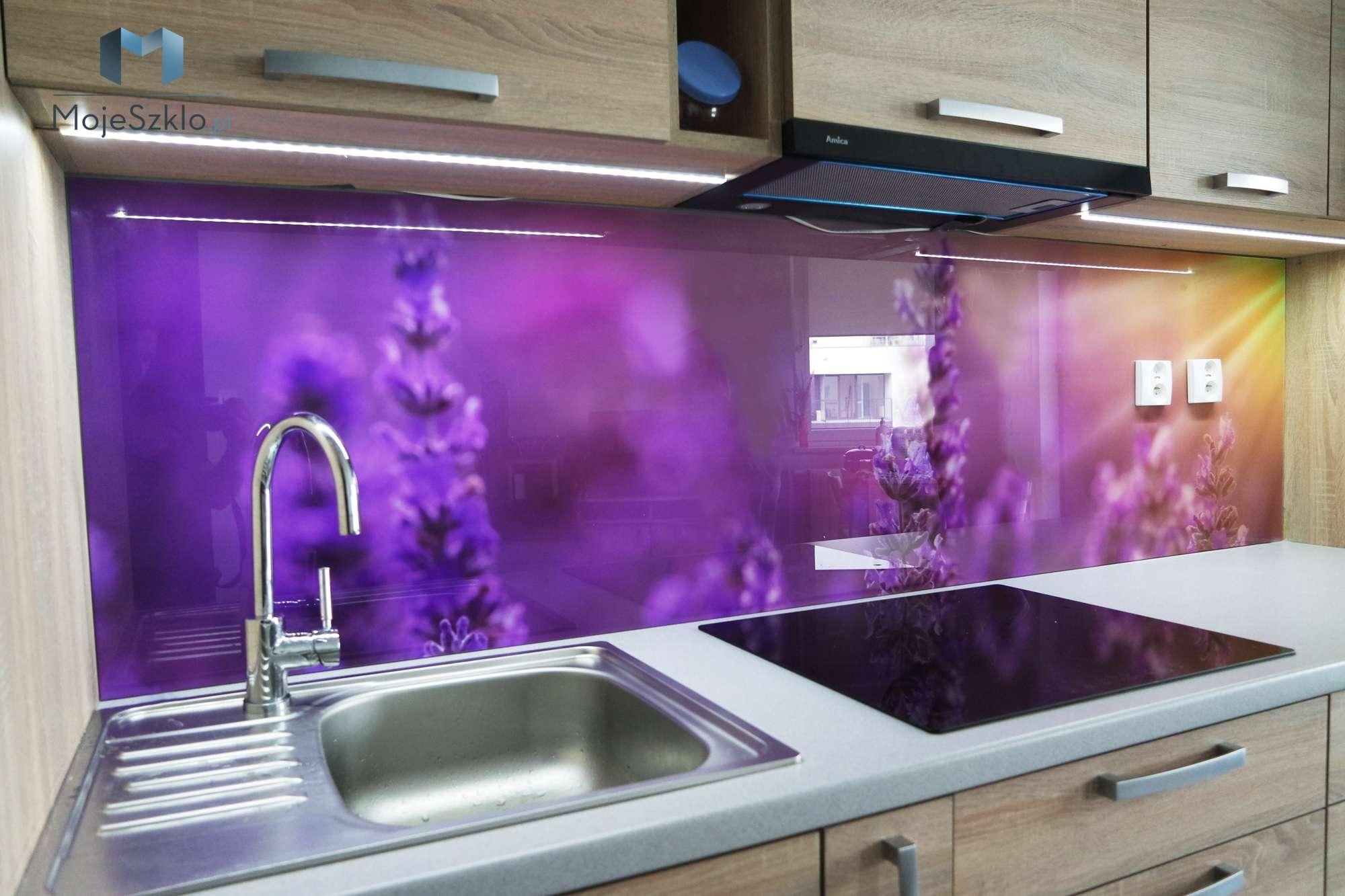 Szyba Do Kuchni Lawenda Slonce - Szkło hartowane lakierowane do kuchni i łazienki