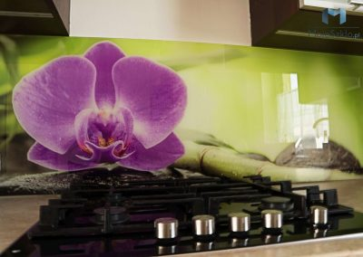 Szyba Do Kuchni Orchidea Fiolet