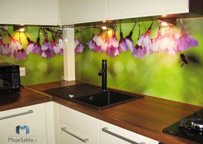Szyba Do Kuchni Rozowe Kwiaty