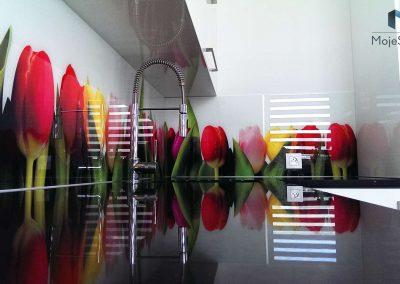 Szyba Do Kuchni Tulipany