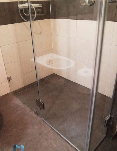 Trzyelementowy Prysznic Bez Brodzika Na Wymiar