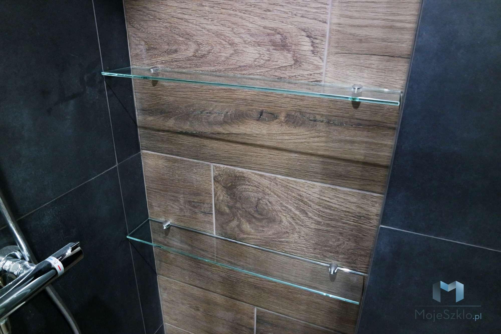Waskie Szklane Polki - Szklane półki do łazienki na wymiar