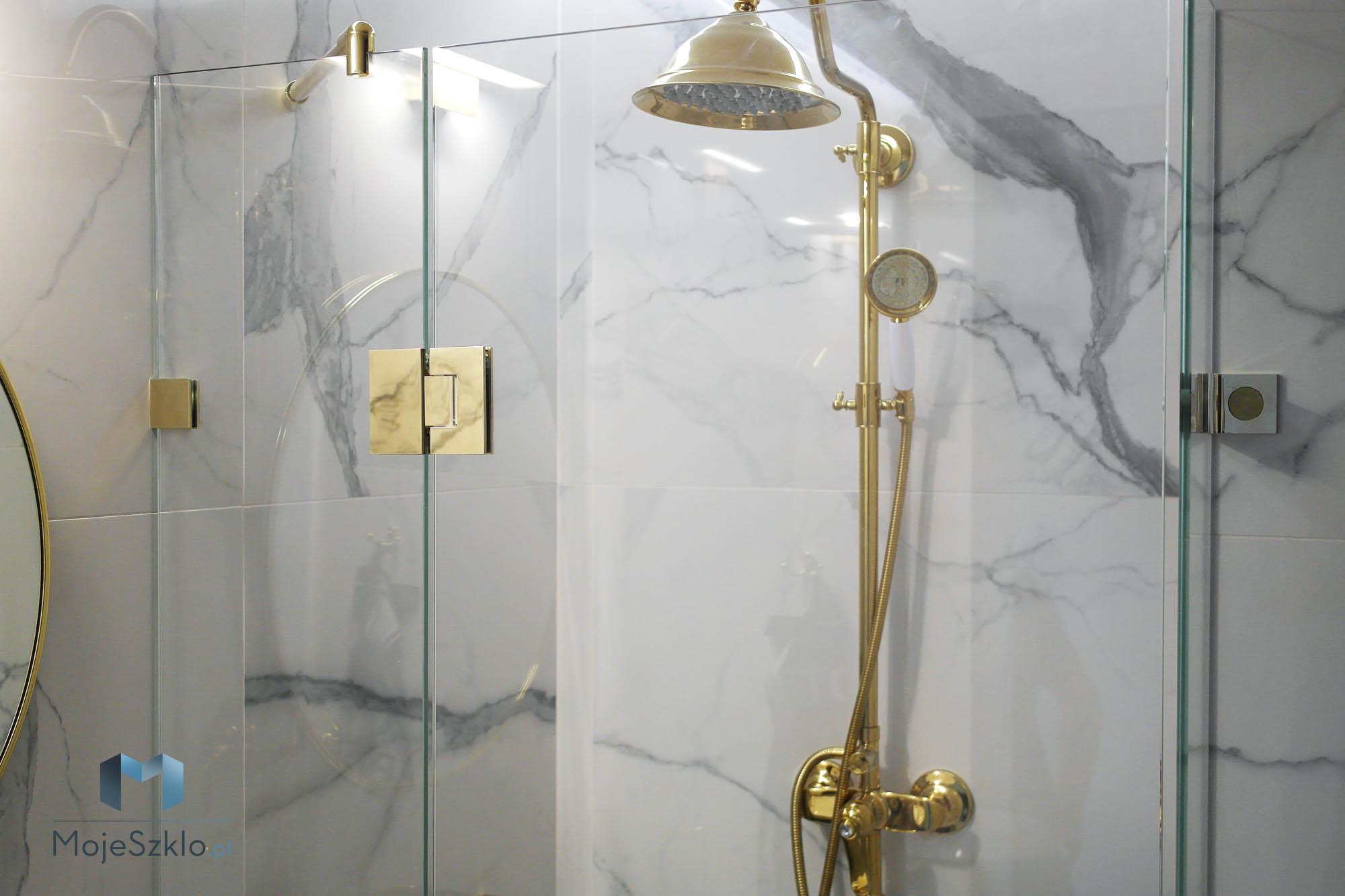 Zlota Kabina Prysznicowa Krakow - Złota kabina prysznicowa. Kabina w złotych okuciach